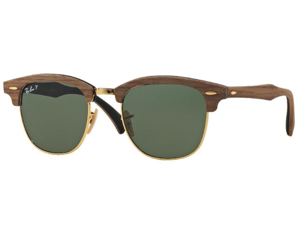 563e2cc4a Óculos De Sol Ray Ban Clubmaster Wood Polarizado RB3016 118158 Tam ...