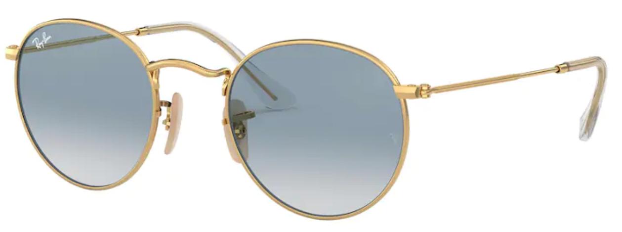 Óculos De Sol Ray Ban Redondo Round Metal RB3447 001/3F Tam.53