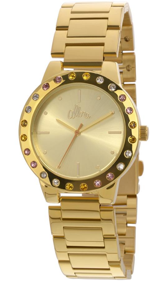 0053d34a91ae7 Relógio Allora Feminino Dourado Com Strass AL2035EYO4T