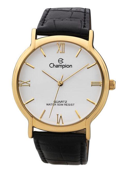 455077c2d83 Relógio Champion Feminino Social Couro Preto CH22206M