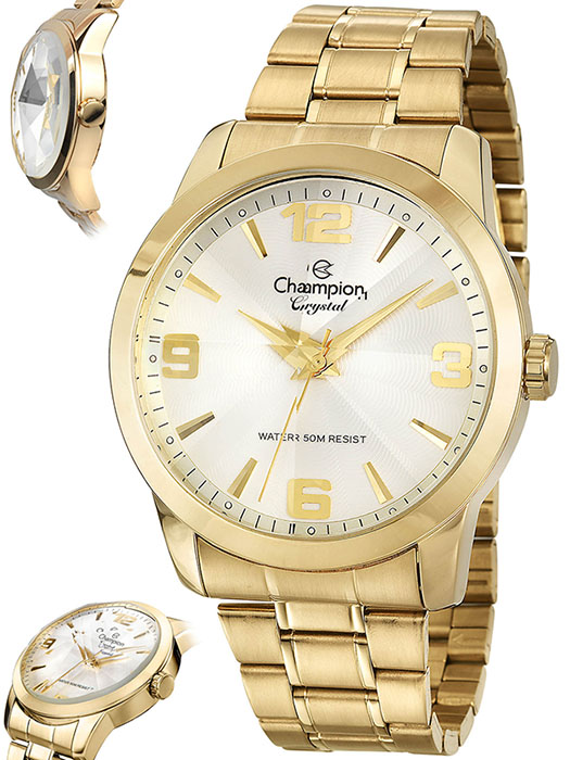 e58d306bac3 Relógio Champion Crystal Feminino Dourado CN27170H
