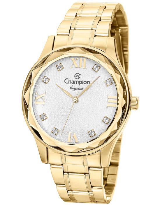 953e59fe76b Relógio Champion Crystal Feminino Dourado CN27465H