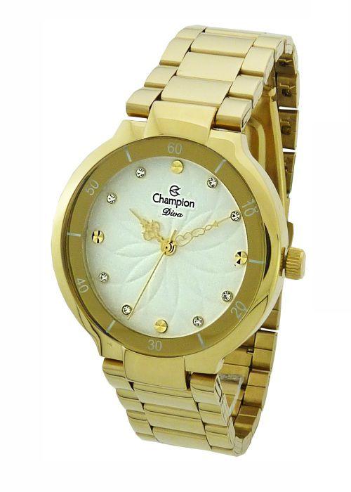 d15ff1c56c7 Relógio Champion Diva Feminino Dourado CN25234H