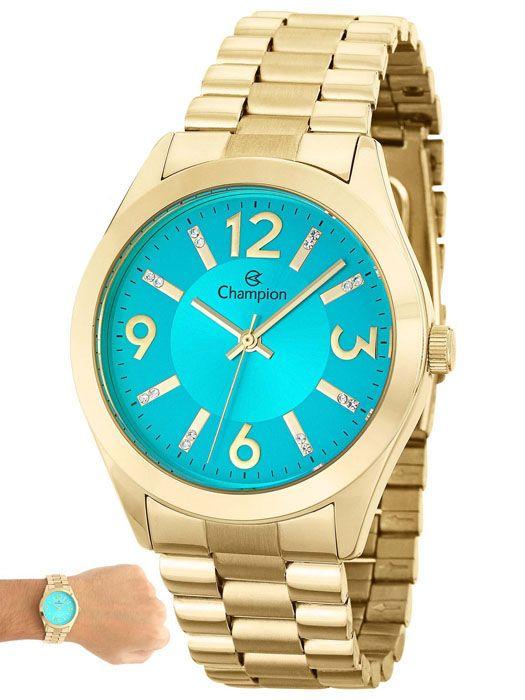 Relógio Champion Elegance Feminino Azul CN25225F