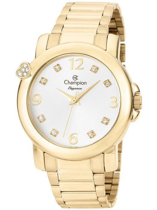 ef67237a9d9 Relógio Champion Elegance Feminino Dourado CN27161H