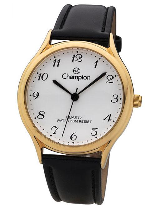 ec94fbc4f94 Relógio Champion Feminino Social Couro Preto CH22233M