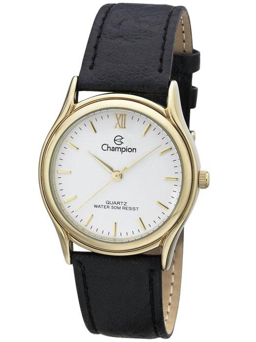 1b27d6835b6 Relógio Champion Feminino Social Couro Preto CH22297M