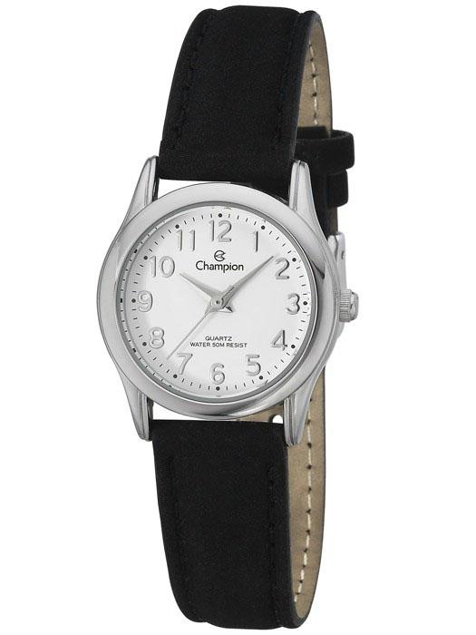 8267e48b988 Relógio Champion Feminino Couro Preto CH25098SChampionChampionCompra ...