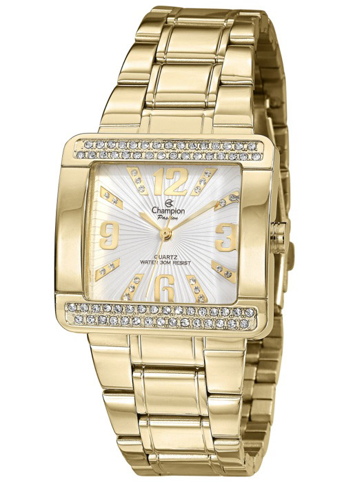 925cb1af5af Relógio Champion Passion Quadrado Dourado CN29105H