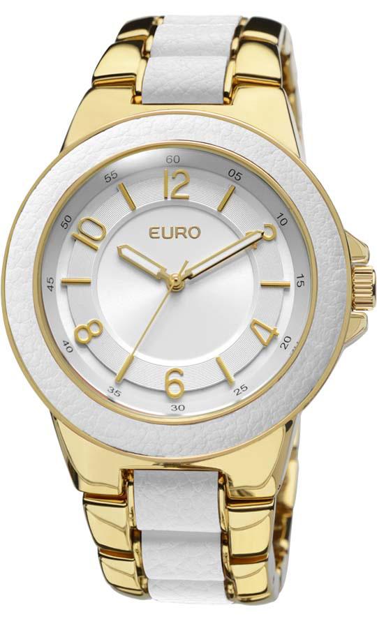 b45156ebaa4 Relogio Euro Feminino Tula Dourado E Branco EU2036AIM2B