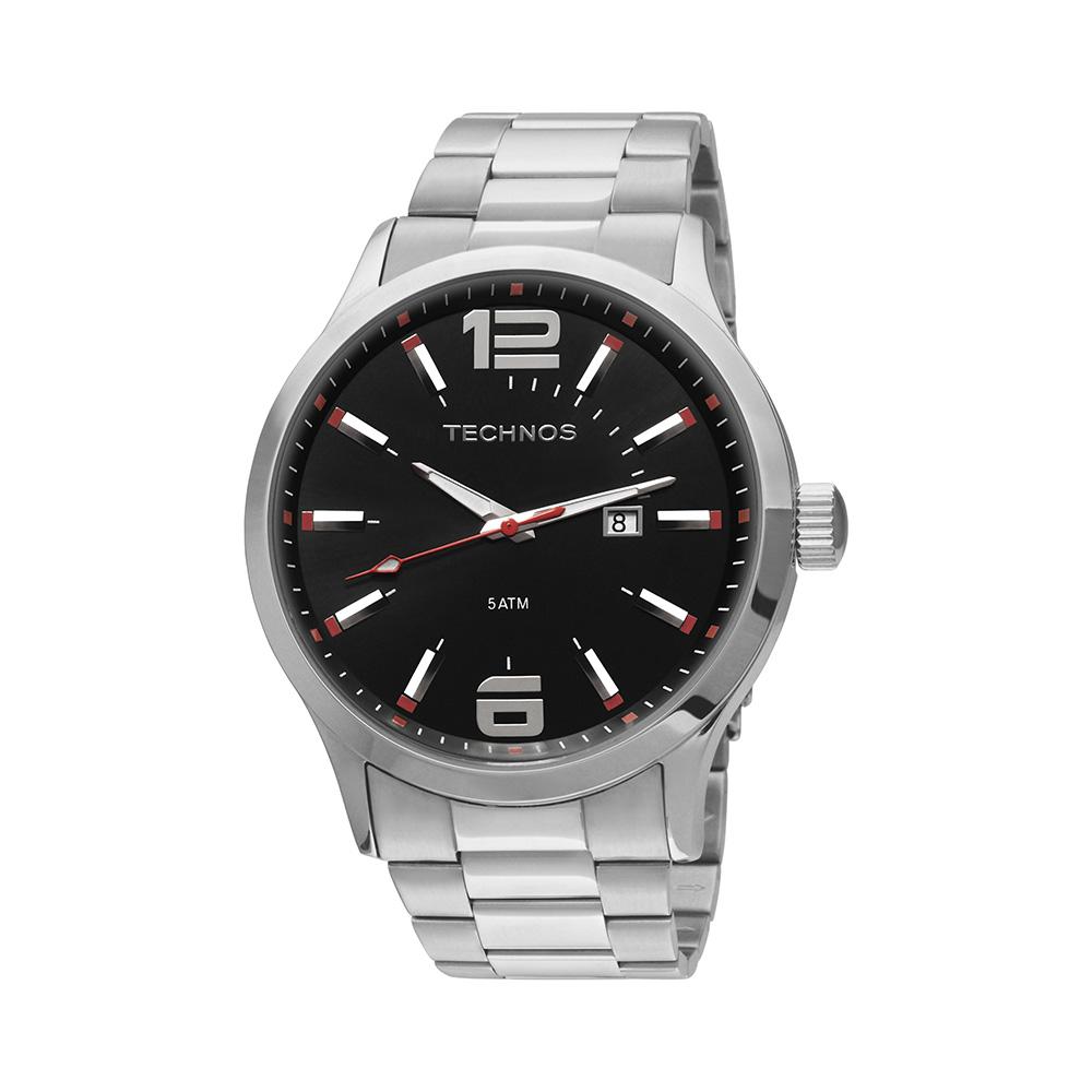 a97621acae6 Relógio Masculino Technos Racer Prata Analógico 2115GU ...