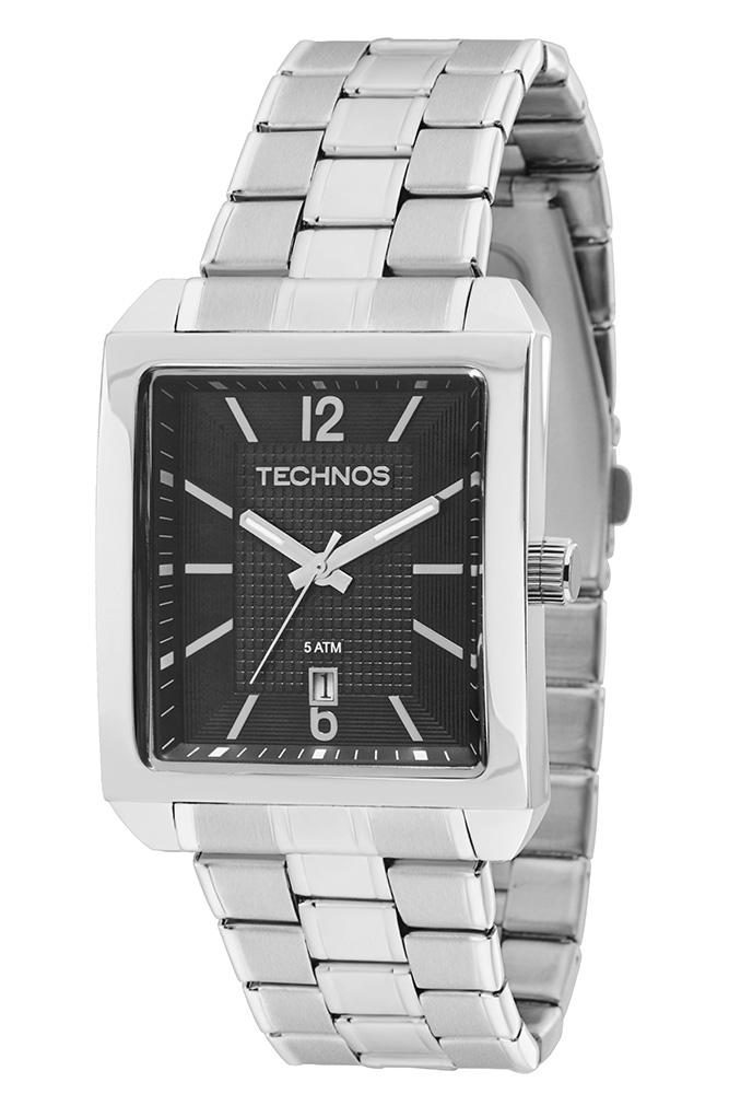 b7ebc553cdad4 Relógio Technos Classic Steel Analógico Quadrado 2115KOA ...