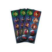 Adesivo 3 Cartelas Redondo Avengers