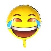 Balão Metalizado Emoji WhatsApp Chorei de Rir