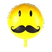 Balão Metalizado Emoji Bigode