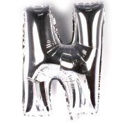 Balão Metalizado Letra N Prata 45cm