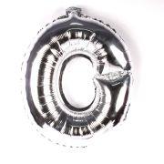 Balão Metalizado Letra O Prata 45cm