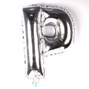 Balão Metalizado Letra P Prata 45cm