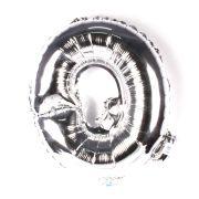 Balão Metalizado Letra Q Prata 45cm