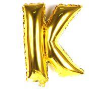 Balão Metalizado Mini Shape Letra K Dourado 70cm