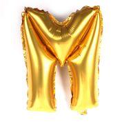 Balão Metalizado Mini Shape Letra M Dourado 70cm