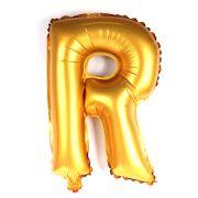 Balão Metalizado Mini Shape Letra R Dourado 70cm