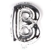 Balão Metalizado Minishape Prata 70cm Letra B