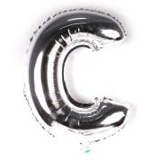 Balão Metalizado Minishape Prata 70cm Letra C