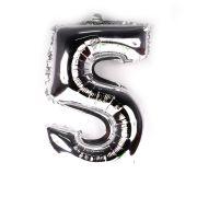 Balão Metalizado Número 5 Prata 45cm