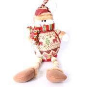 Boneco de Neve ou Papai Noel Perna Longa Madeira Un