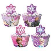 Capa Para Cupcake Frozen 12Un