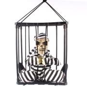 Caveira Prisioneira de Halloween com Bandana