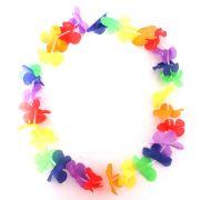 Colar Havaiano Tecido Colorido Unidade
