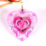 Colar Pisca Coração Transparente