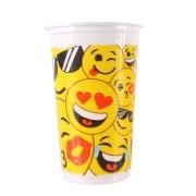 Copo Descartável Emoji 300ml - 25 unidades