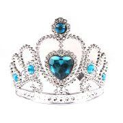 Coroa de Princesa Prata com Pedra Azul