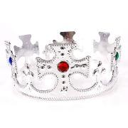 Coroa Plástica de Rei - Dourada e Prateada