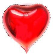 Kit 20 Balão Metalizado Coração Vermelho 48cm
