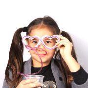 Kit 25 Óculos Canudo Estilo Chaves - Diversas Cores
