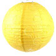 Luminária Vazada Amarela de Papel