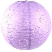 Luminária Vazada Lilás de Papel