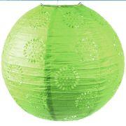 Luminária Vazada Verde de Papel
