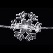 Luz Led Floco De Neve 3M Branco A Pilha