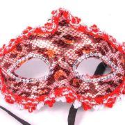 Máscara Elegância Vermelha