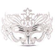 Máscara Veneziana Luxo Prata