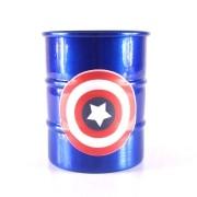 Mini Tonel Azul Capitão América