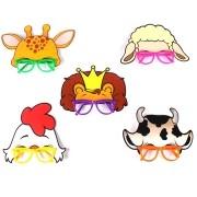 Óculos Máscara Animais 5 unidades