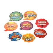 Placas Animadas Mix Carnaval ( 8 UN )