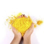 Pó Colorido Para Festas Holi - Amarelo