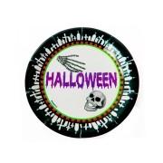 Prato Descartável Halloween 18cm - 8 Unidades